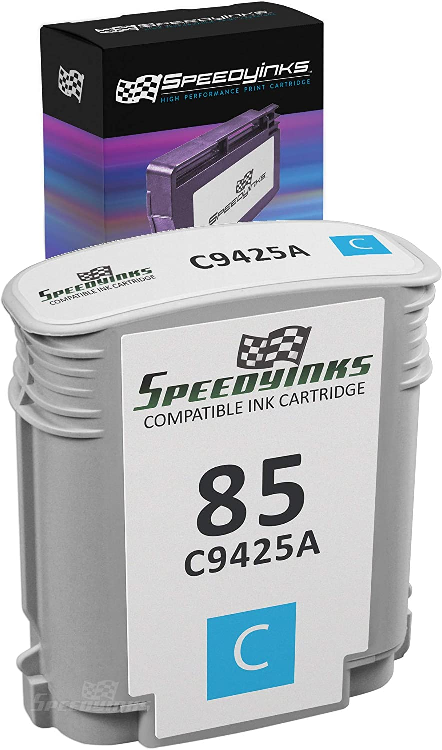 Speedy Inks Remanufactured Ink Cartridge Replacement for HP 85 / C9425A (Cyan)