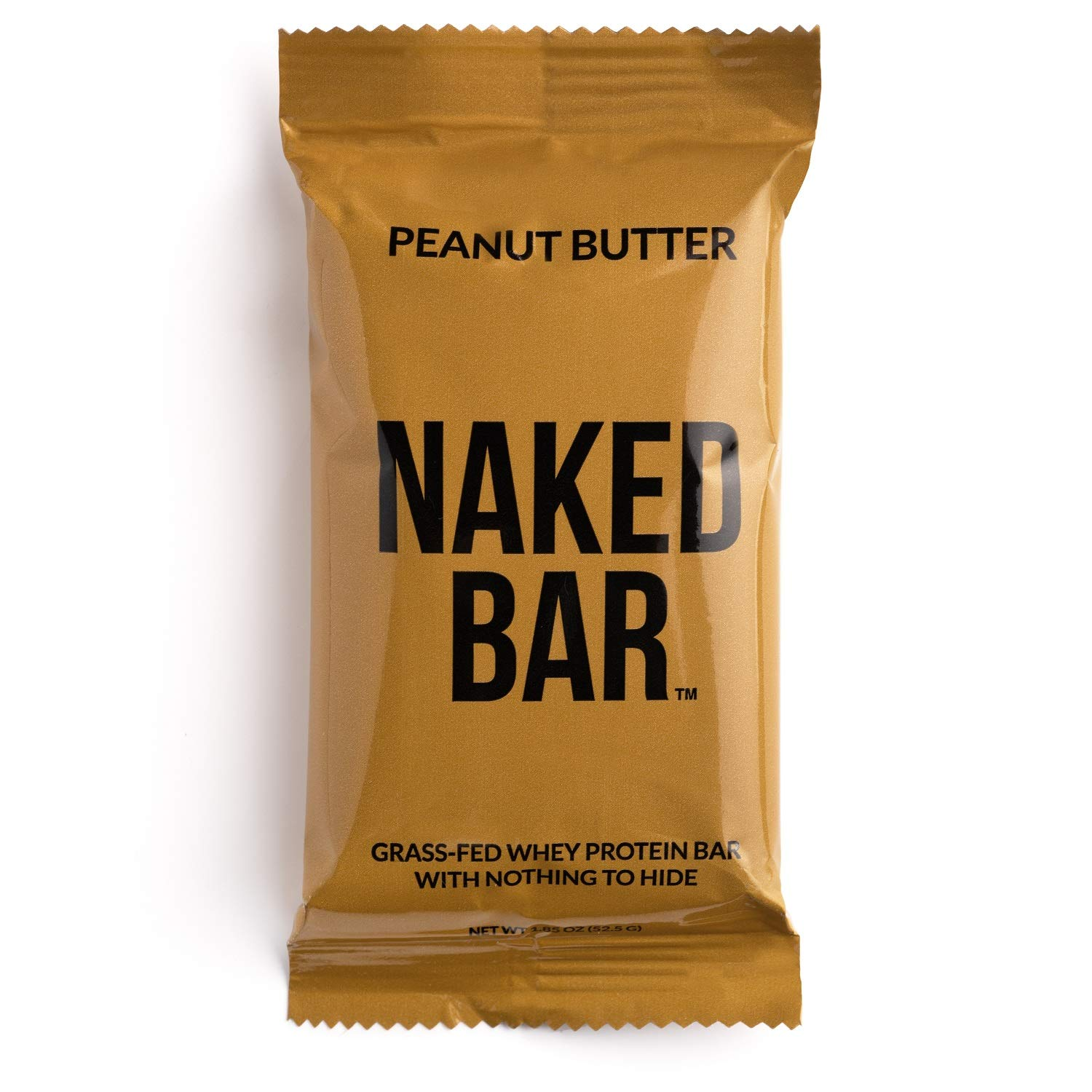 NAKED Peanut Butter Protein Bars - Only 5 Premium Ingredients, Made with Grass-Fed Whey Protein from Small Farms - Gluten Free Protein Bars, Soy Free, No GMOs, No Artificial Sweeteners - 12 Pack