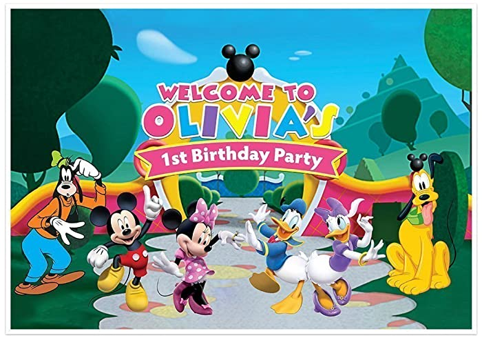 Amazon Mickey Mouse Clubhouse Birthday Banner Personalized