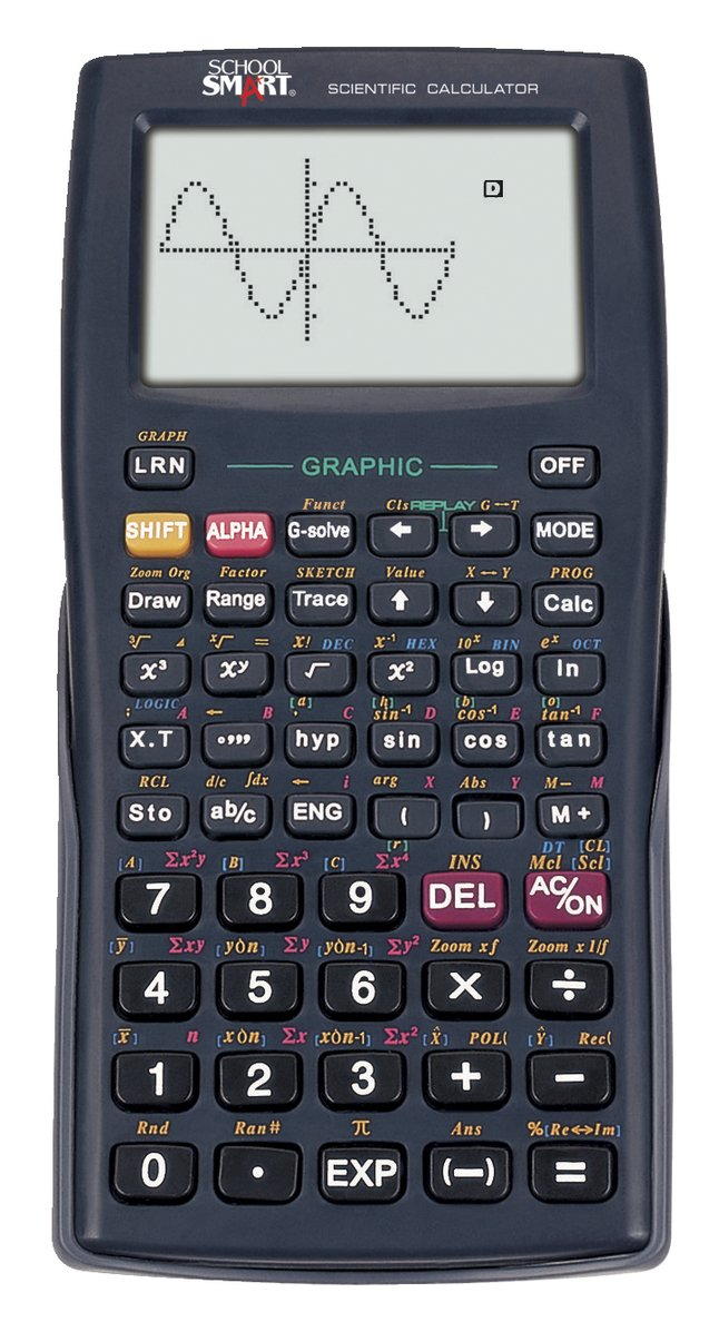 School Smart CS-121 Graphic Calculator 10 + 2 Dot Matrix, Black