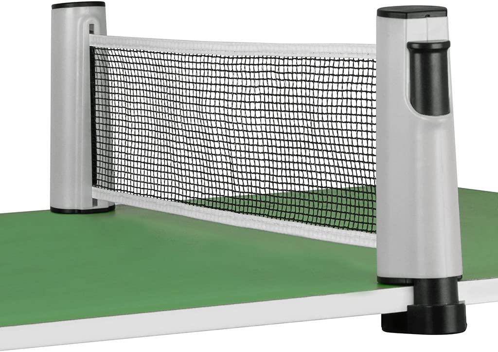 red retractil para ping pong ajustable hasta 1.8mts gris