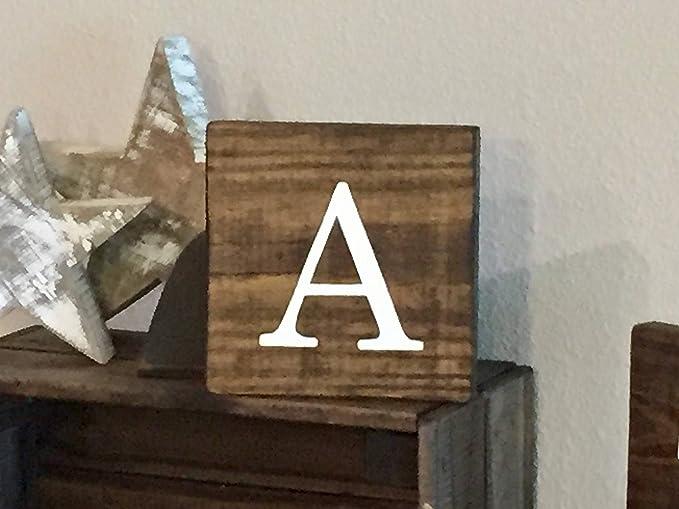 Tiukiu Paleta rústica de Madera con Letras de Scrabble Azulejos, Nombres Familiares, alfabetos, decoración de Granja, Madera: Amazon.es: Hogar