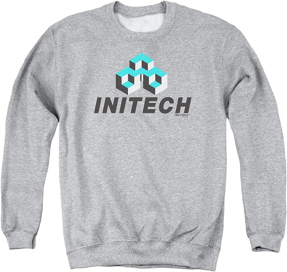 Office Space Initech Logo Adult Crewneck Sweatshirt Athletic Heather
