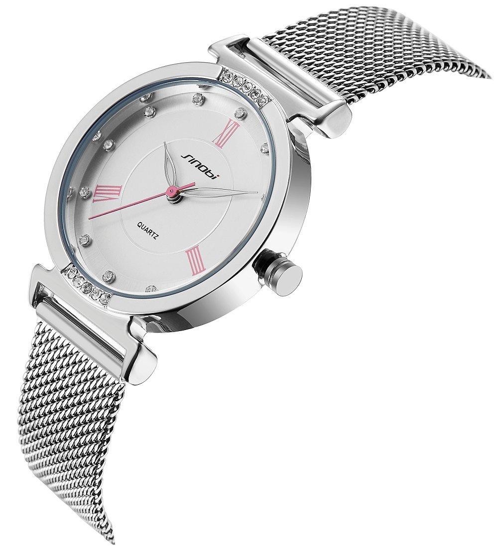 SHENGKE Elegant Simplicity Quartz Watch Mesh Band Women Watches Ladies Business Wristwatch 2018 K006L