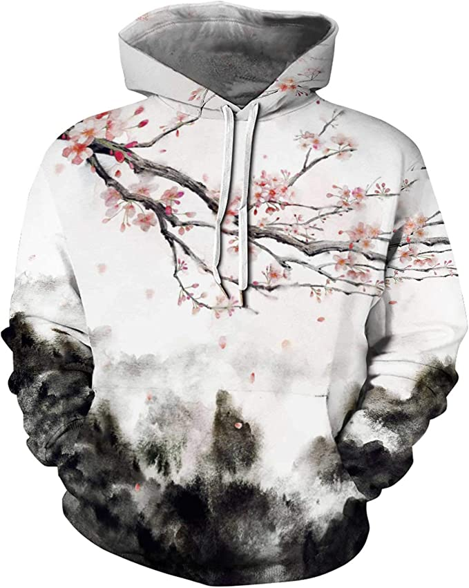 Fabby Unisex 3D Printed Hoodies Sweatshirt with Pockets