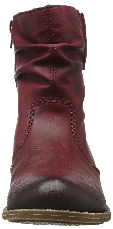 Rieker Damen / 72769 Kurzschaft Stiefel Rot (Wine / Damen 35) 01500d
