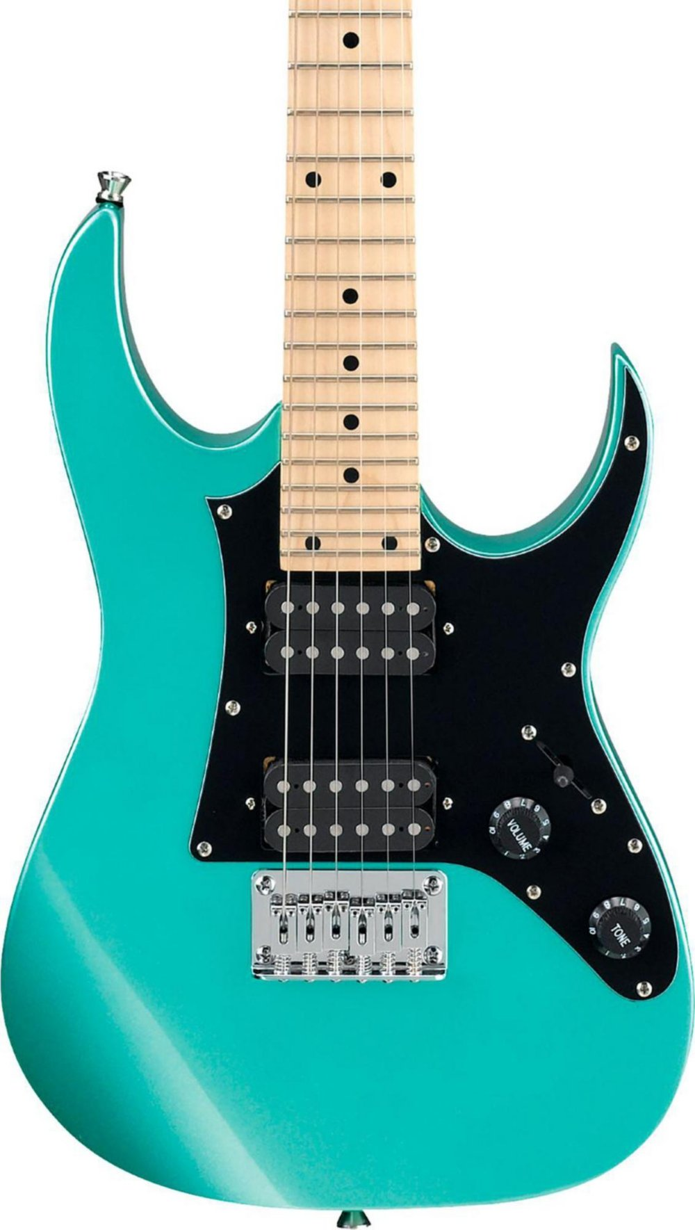 Ibanez GRGM 6 String Solid-Body Electric Guitar, Right, Metallic Light Green (GRGM21MMGN)