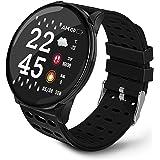 Redlemon Smartwatch Reloj Inteligente con Monitor Cardiaco, Presión Arterial y Podómetro, Resistente al Agua, Reloj para Homb