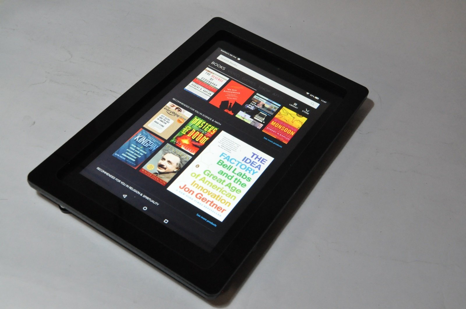 TABcare Compatible with Kindle Fire HD 10 Security Acrylic VESA Kit for POS, Kiosk, Store, Show Display (Black)