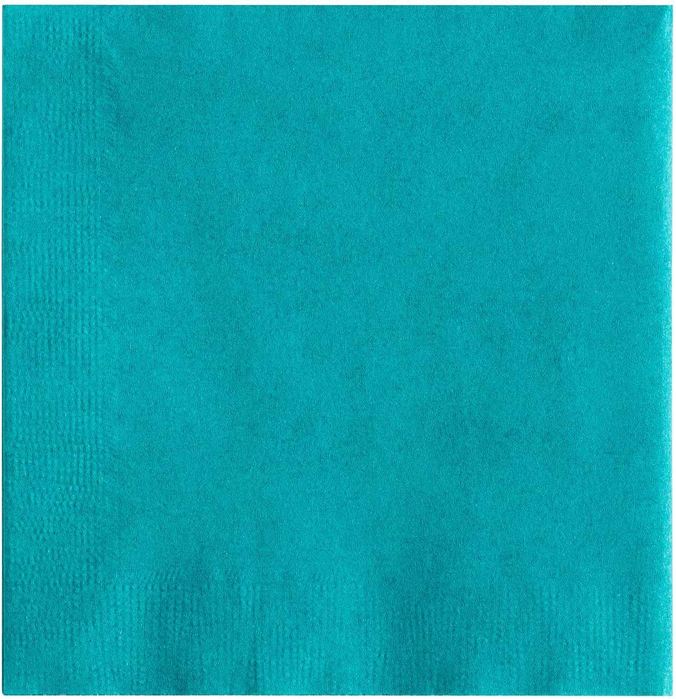 MM Foodservice 2- Ply Cocktail Napkins, Beverage Paper Napkins, Set of 250 (Teal)