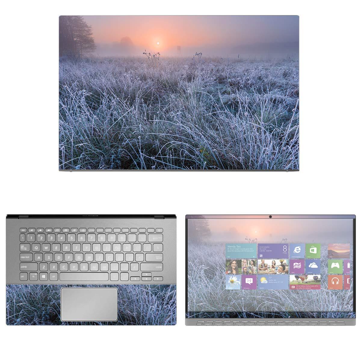 decalrus - Protective Decal Foggy Sunrise Skin Sticker for Asus VivoBook 14 X420UA (14'' Screen) case Cover wrap ASvivobk14_x420ua-162