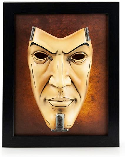 Borderlands 2 Handsome Jack Wall Art Shadow Box Hand Painted Resin Mask Display