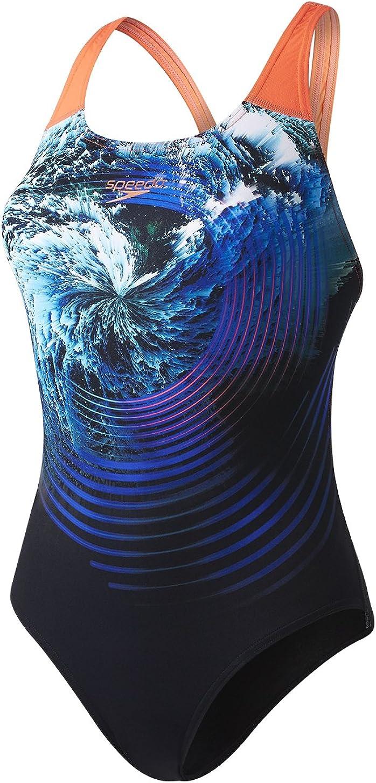 Speedo Womens Lavaflash Digital Powerback Swimsuit