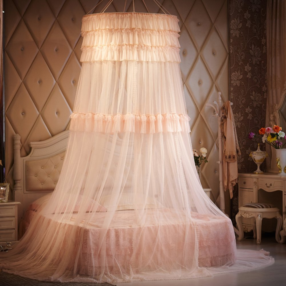 Dome Hanging Mosquito Net/Fashion Double,Home Mosquito Net/Palace Princess Wind,Hanging Mosquito Nets-B A