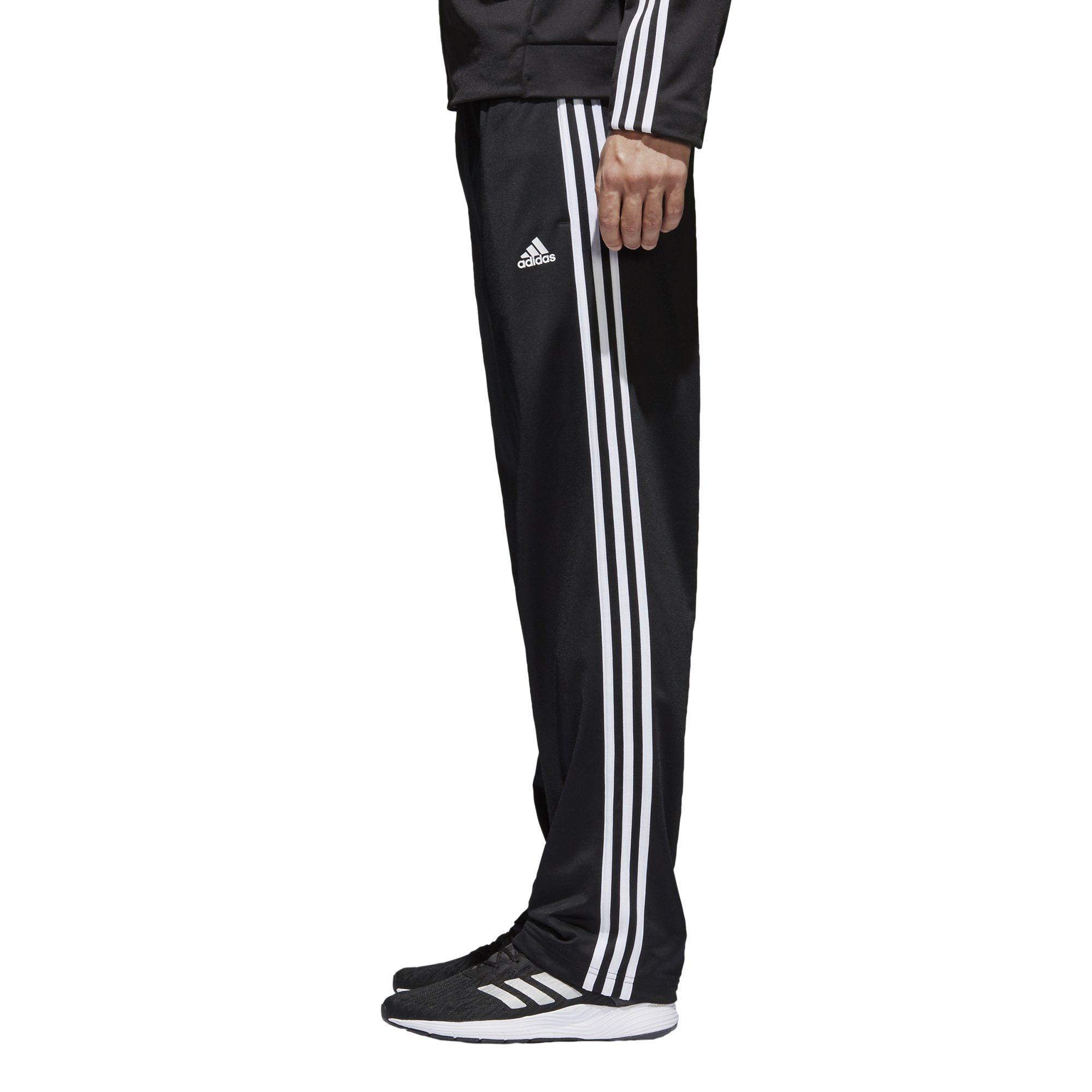 adidas Men's Athletics Essential Tricot 3-Stripe Pants, Black/White, Small by adidas (Image #4)