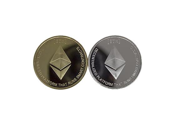 Amazon.com: ethereum Eth moneda, monedas de oro y plata ...