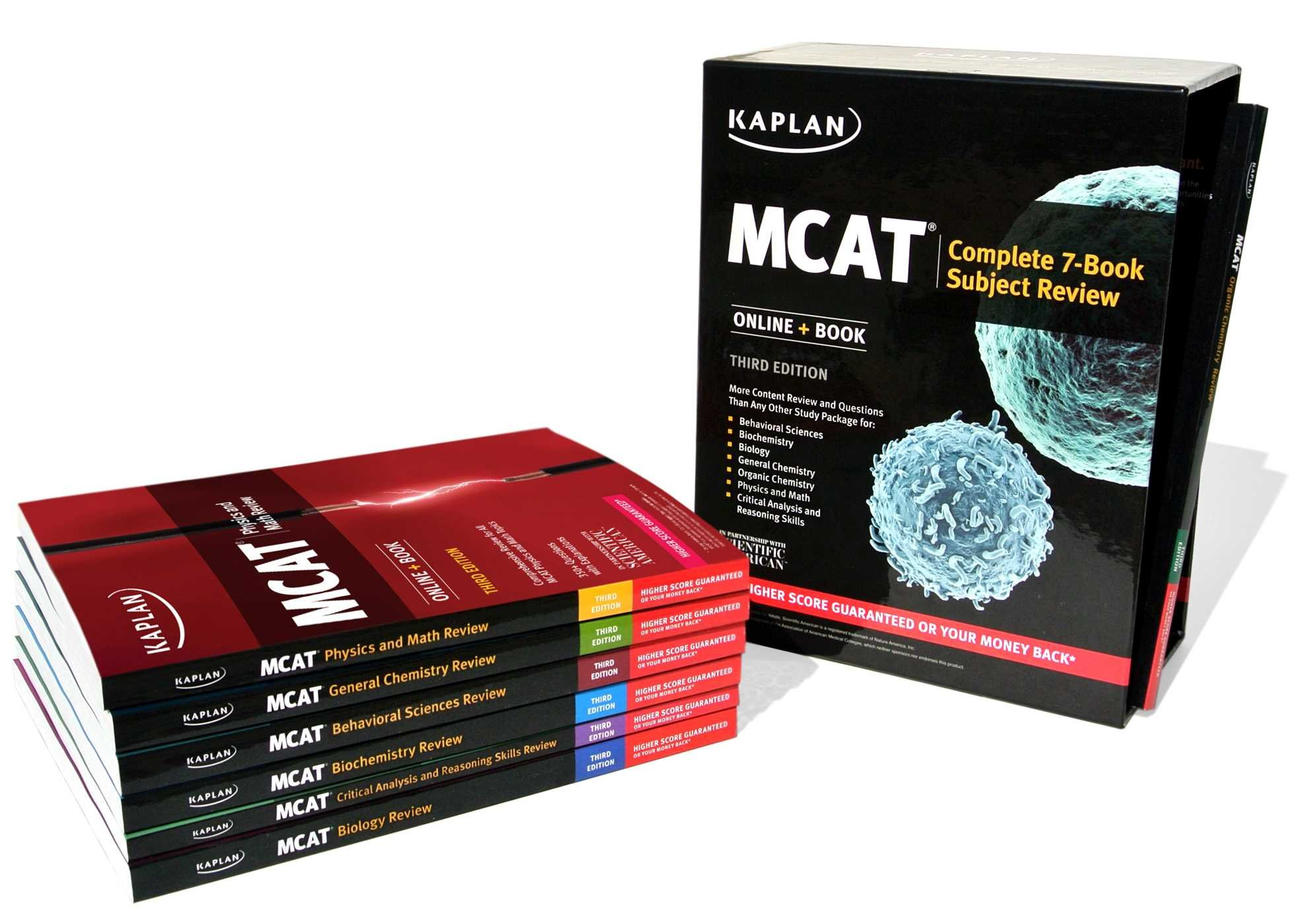MCAT Complete 7-Book Subject Review: Online + Book (Kaplan Test Prep)