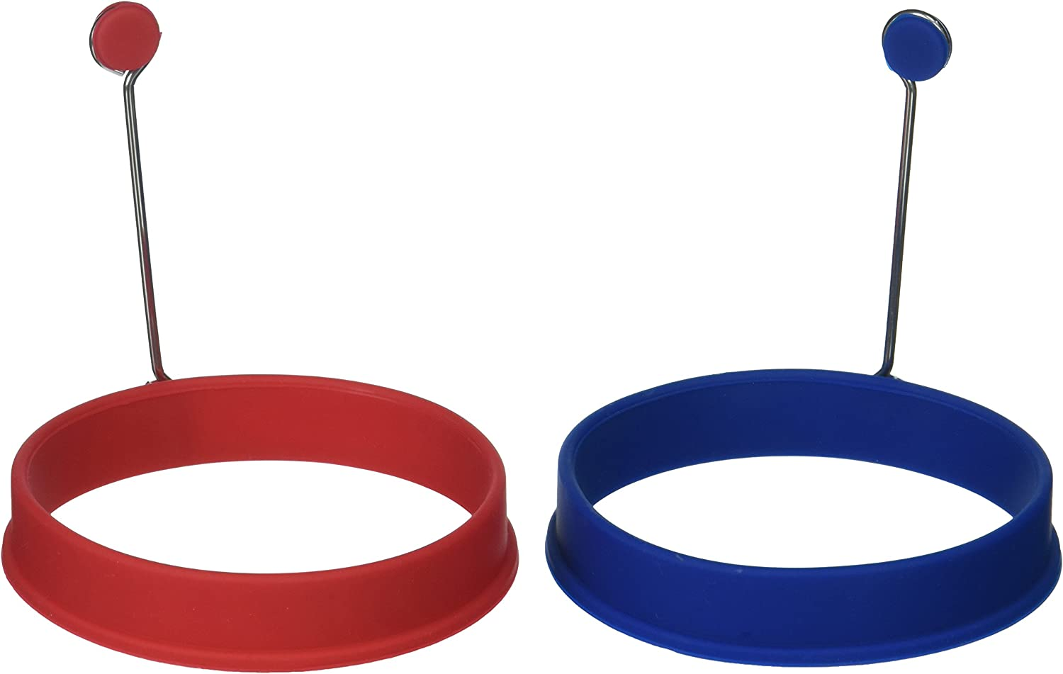 Mrs. Anderson's Baking Silicone Fried and Poached Egg and Pancake Cooking Rings, Round Shaped, Nonstick, 4-Inch x .75-Inch, Set of 2