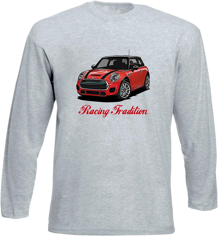 TEESANDENGINES Mini Cooper Red Inspired Racing Tshirt de Manga ...