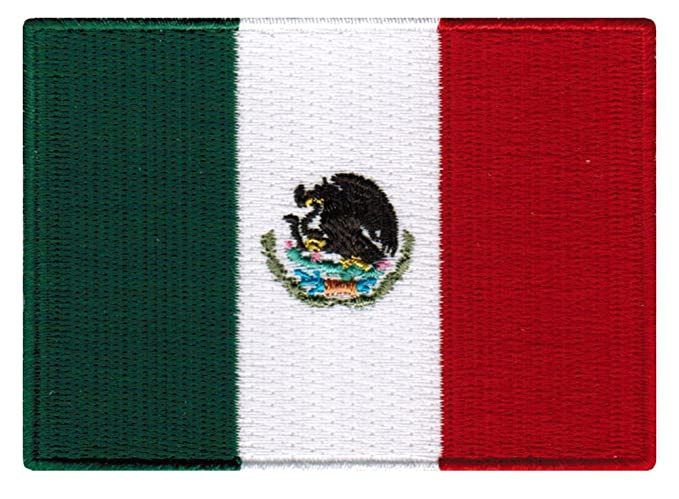 Amazon Mexico Flag Embroidered Patch Mexican Iron On National