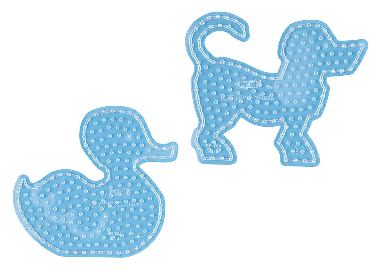 Hama Maxi Stiftplatten Set Hund und Ente 8252 für Hama Maxi Bügelperlen