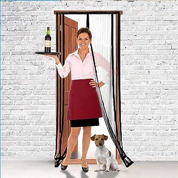 ❤ Homitt Magnetic Screen Door W// Heavy Duty Mesh Curtain /& Full Frame Hook/&Loop