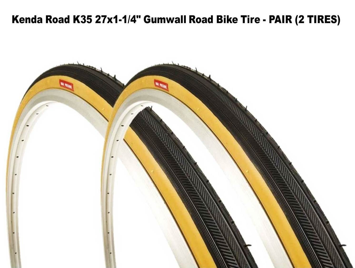 White Duro 27x1 City Classic Vintage Road Fixie Touring Bike Bicycle Tire Tires
