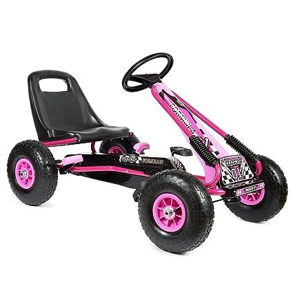 Bopster- Coche De Pedales Go-Kart con Ruedas Hinchables 5-8 Años-