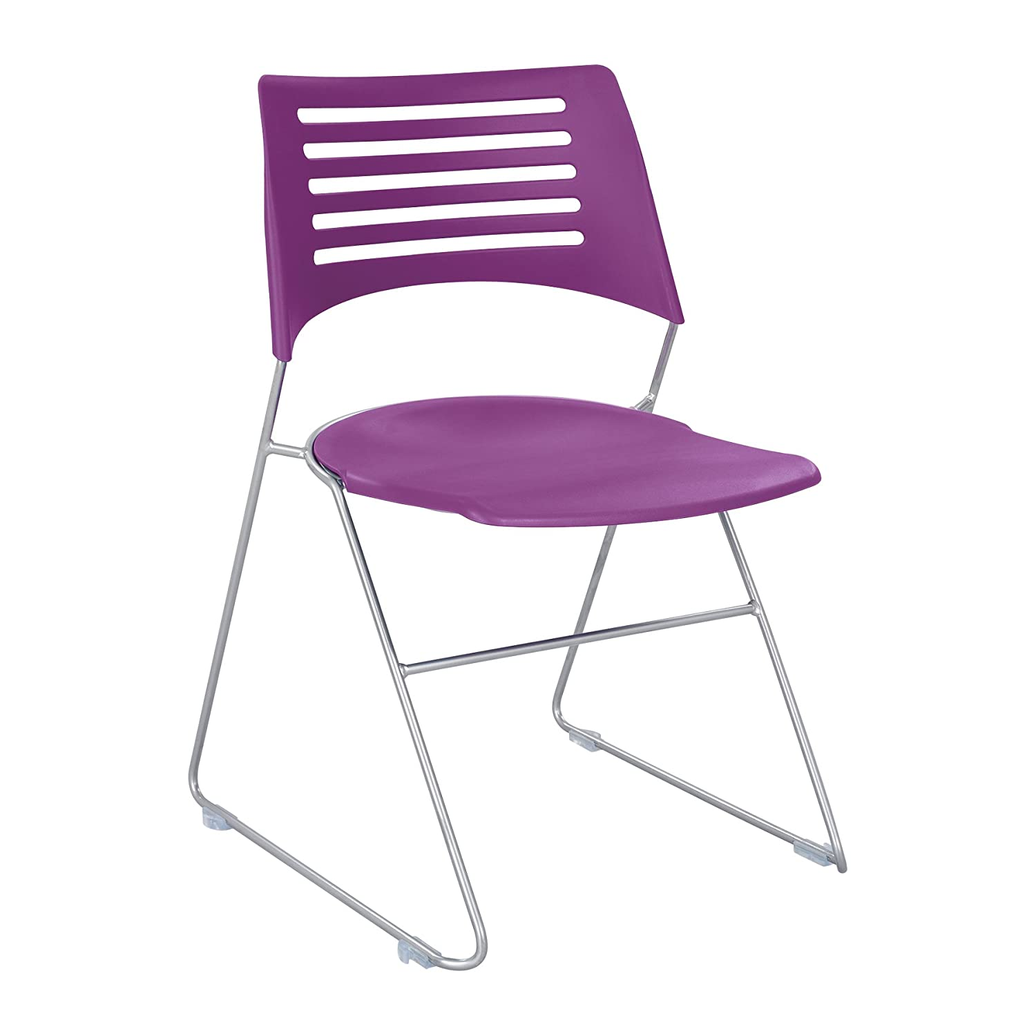 Black//Silver Safco Products 4289BLSL Pique Stack Chair