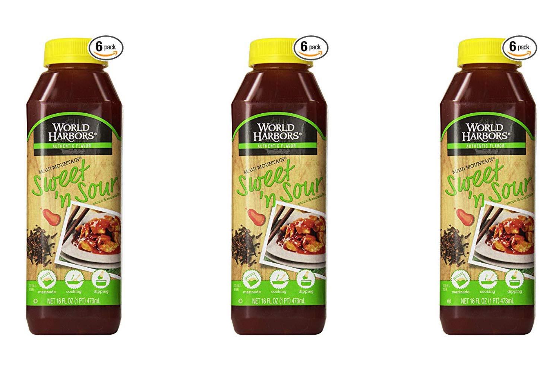 World Harbors Maui Sweet and Sour Sauce, 16-Fl Oz Bottles (Pack of 6) (3 Pack)