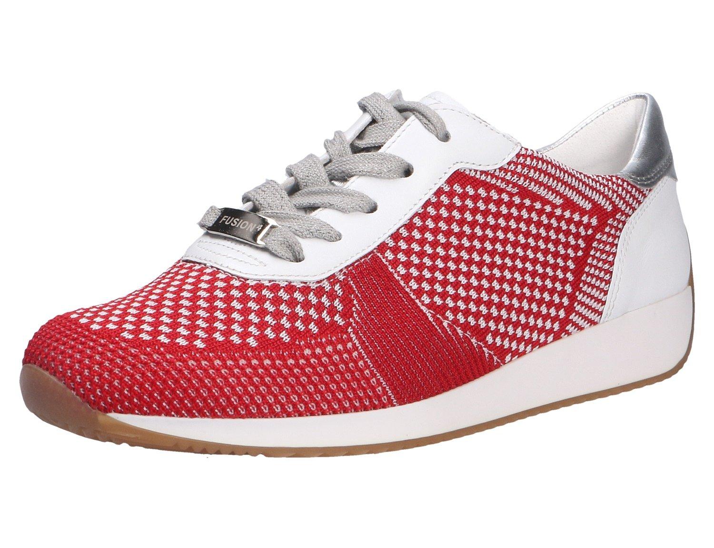 ara Damen 21 Sneaker  41 EU|Wei? (Rot-weiss, Weiss/Silber)