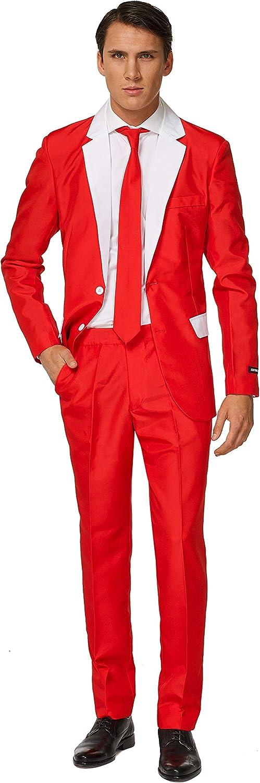 Suitmeister Men Suit Set di Pantaloni Eleganti da Lavoro Santa Outfit XXL Uomo