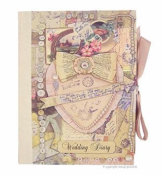 Diario organizador de bodas, diseño antiguo: Amazon.es ...