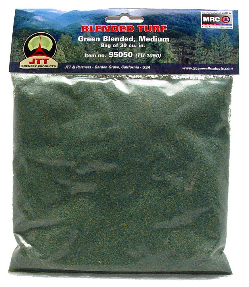JTT Landscaping Material - Blended Turf, Green Blended, Medium