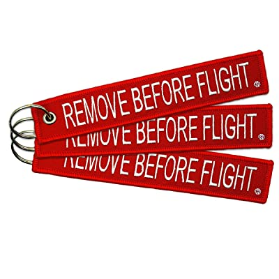 Apex Imports Wireless 3 Remove Before Flight Key Chain Aviation ATV UTV Motorcycle Pilot Crew Tag Lock: Automotive