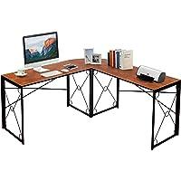 Deals on VECELO L-Shaped Corner Computer Home Office Desk Work Station