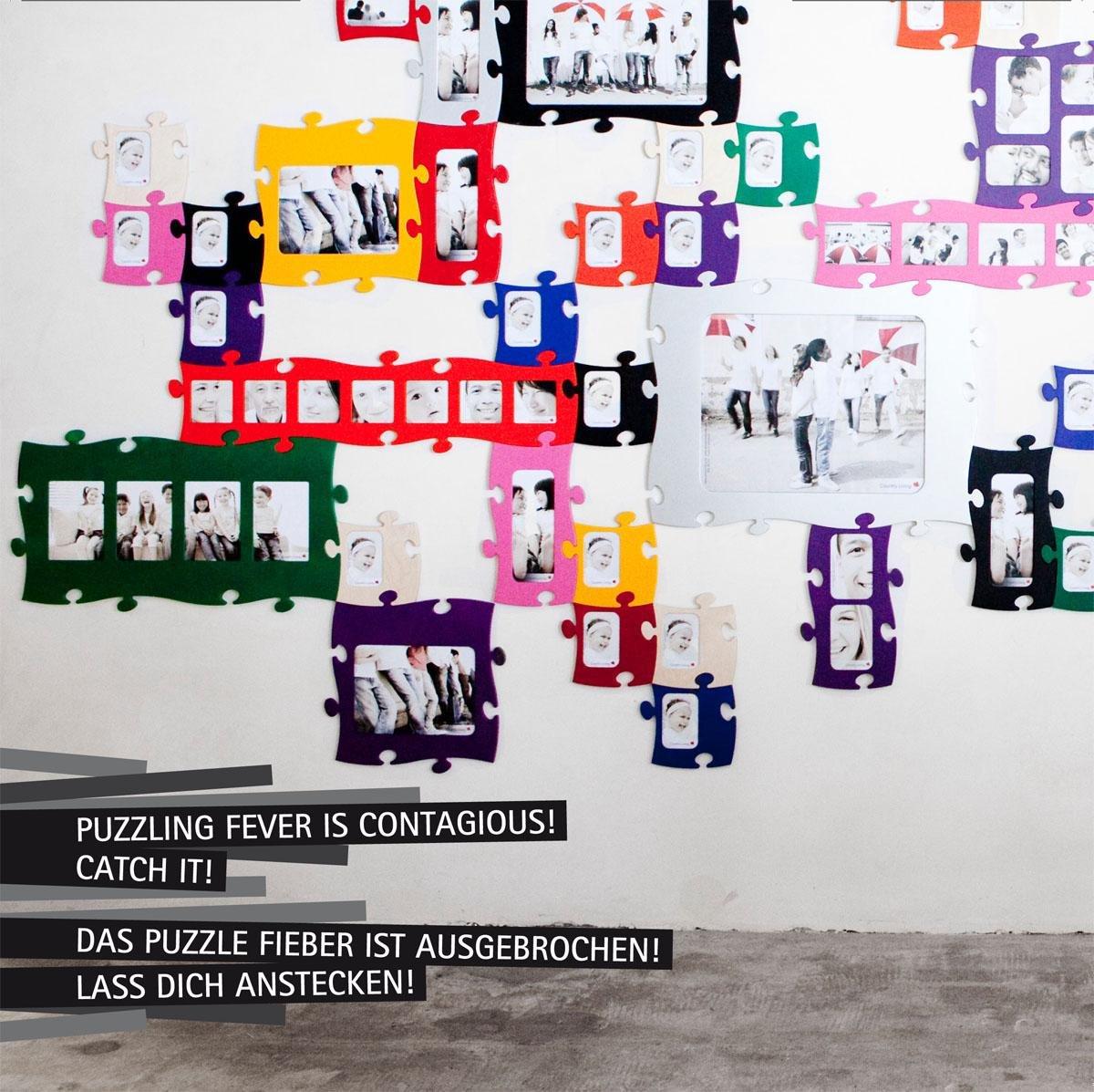 Amazon.de: Puzzle Rahmen, 4 mal 13x18cm - natur