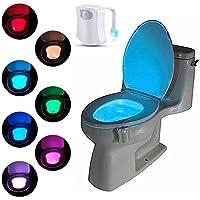 Suyi Pot cuvette Toilette Veilleuse 8 LED avec changement de couleur et détecteur de mouvement