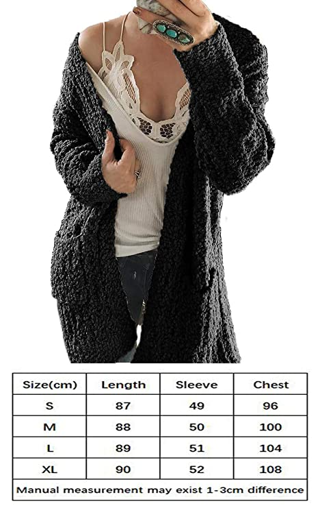 Amazon.com: HZSONNE - Chaqueta de punto para mujer, estilo ...