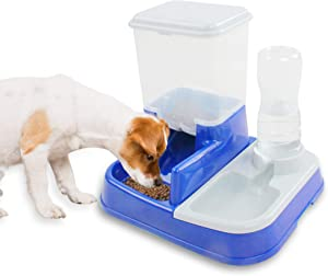 Automatic Pet Dog Cat Food and Water Feeder Set for Dogs Cats Puppy Kitten Auto Food Dispenser Feeding Bowl 5L