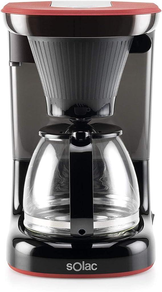 Solac CF4032 Stillo Drip - Cafetera de goteo. Uniform Drip Distribution. 1.2L. 650W. Filtro permanente extraíble lavable. Portafiltro pivotante. Antigoteo. Placa calefactora. Auto-off. Dosificador.: Amazon.es: Hogar