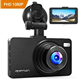 "APEMAN Dash Cam 1080P FHD 3.0"" Screen DVR Car Dashboard Camera Recorder with Night Vision, G-sensor, WDR, Loop Recording, Motion Detection, and Parking Monitor"