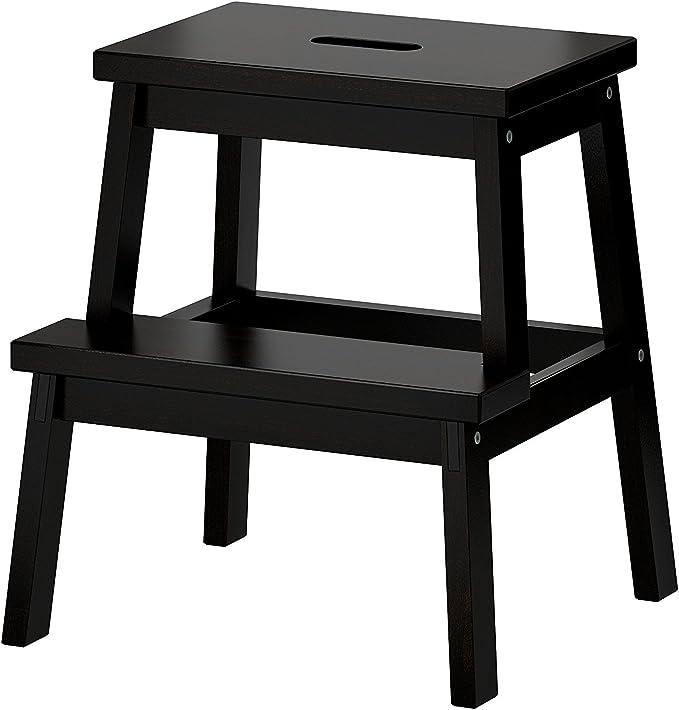 Amazon Com Ikea Bekvam Step Stool Black Furniture Decor