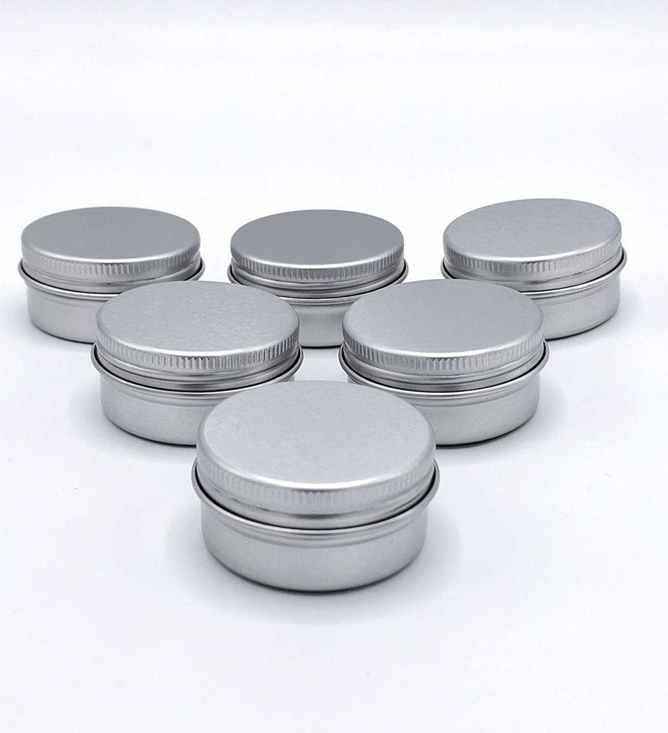 Empty Screw Top Round Tin Containers for Lip Balm, Crafts, Cosmetic, Candles, Storage Kit 1 2 Oz 35