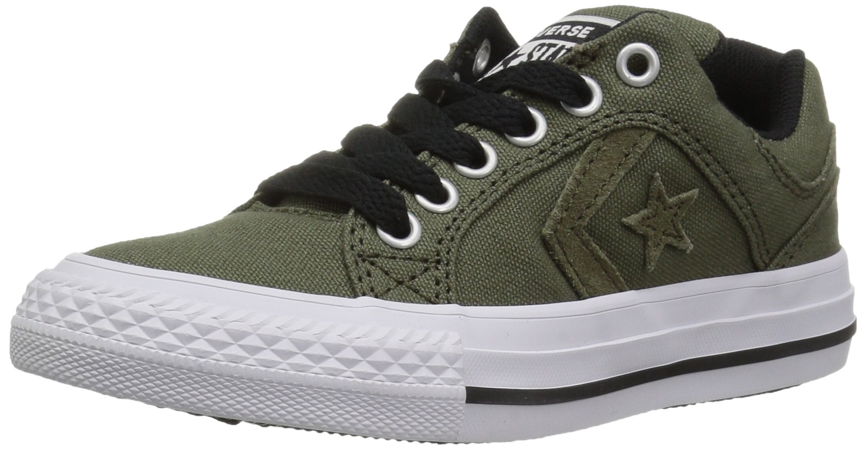 17bc376ac904 Galleon - Converse Boys  El Distrito Suede Low Top Sneaker