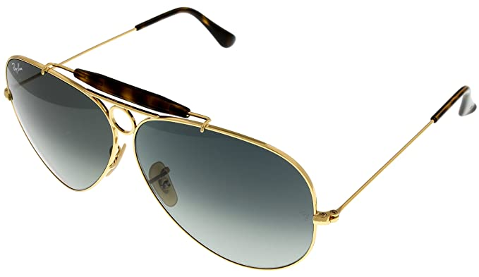 f3e88cbd797 Image Unavailable. Image not available for. Color  Ray Ban Sunglasses  Shooter Aviator Mens Browbar ...