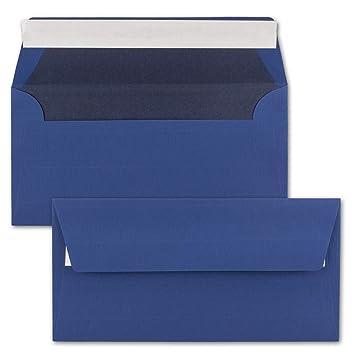 75 Brief Umschläge Din Lang Dunkel Blau Gefüttert Mit Blauem