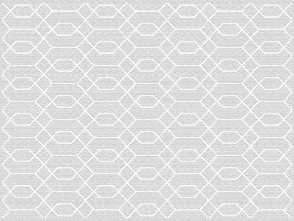 Viniliko Teppich Hexagon, Vinyl, grau, 100 x 133 x 3 cm