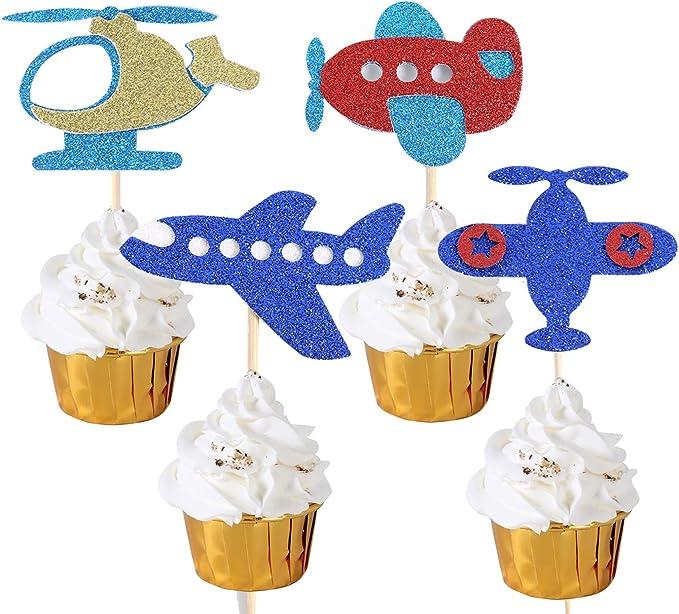 Time Flies Birthday Party Airplane Baby Shower Airplane Baby Shower Decorations Airplane Cake Topper Precious Cargo
