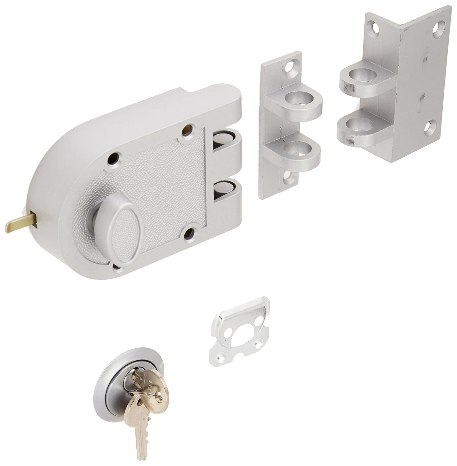 Guard Security Heavy Duty Jimmy Proof Deadbolt Door Lock, Silver, Single Cylinder with Key Entry #44861 Ultra Hardware
